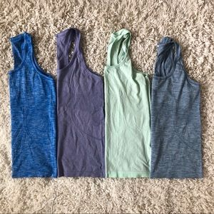 4 Lululemon Swiftly Tech Racerbacks Tank Tops 8-10
